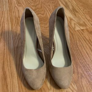 Forever 21 Tan Suede Stiletto Heels